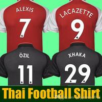 Wholesale Cheap Foot - Cheap thailand LACAZETTE Jersey 2017 2018 soccer jersey 17 18 XHAKA ALEXIS sanchez jersey 17 18 OZIL football shirt camisetas maillot foot