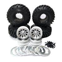 "Wholesale Rc Crawler Wheels - (4)1:10 RC Car Rock Crawler 108 Tires 1.9"" Wheel Rim Beadlock D90 SCX10"