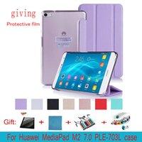 Wholesale Mediapad Case Slim - Slim Magnetic Flip PU Leather Case for Huawei Mediapad M2 7.0 PLE-703L Case Cover Skin for M2 Yougth T2 Pro 7.0 Tablet Case