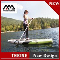Wholesale Sup Stand Up Paddle - 300*75*15cm AQUA MARINA 10 feet THRIVE with pedal inflatable sup board stand up paddle board surf board surfboard new design