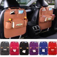Wholesale Car Back Seat Pocket - 7 Colors New Auto Car Seat Organizer Holder Multi-Pocket Travel Storage Bag Hanger Backseat Organizing Box