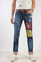 Wholesale Xs Model Hot - Wholesale- Free shipping 2016 Spring autumn New England explosion models hot sale Men fashion Casual Slim cool jeans Cheap wholesale