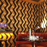 ingrosso onde astratte-Modern Abstract Stripes Wave Wallpaper Rivestimento per pareti Rotolo KTV Bar a tema Sala da parati decorativa da parete per hotel Papel De Parede 3D