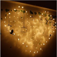 Wholesale Cy Pinks - 2M 128 LEDs 220V Heart Shape String Lights Fairy Décor Warm White Party Wedding Twinkle led Strap Light CY-AXD128L