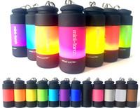 antorcha diy al por mayor-Linternas Mini antorcha Llavero Mini Linterna LED de luz de carga por USB Creativo de plástico de colores conveniente conveniente antorcha eléctrica 5 7gr