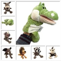 Wholesale Horses Farms - Soft Toys Fingers Dolls Finger Puppet Plush Toy Horses Animals Cartoon Childrenventriloquist Puppet Performances Gloves Toys CCA7382 120pcs