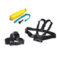 Wholesale Gopro Mount Set - Gopro Hero Accessories Set Helmet Harness Chest Belt Head Mount Strap Go pro hero3 Hero2 3 2 Sj4000 Black Edition Free Shipping