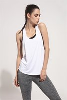 Wholesale Sexy Girls Tee - Sexy Yoga Tops Women Gym Sports Vests for Girl Sportswear Loose Female T-Shirts Sleeveless Fitness Sleeveless Shirt Running Tank Top Tee G33