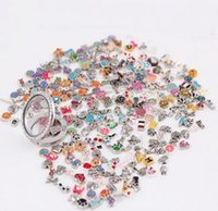 Wholesale Assorted Necklace Designs - 100pcs lot 2016 New Mix design assorted floating locket charms for living glass locket exquisite necklace accessory