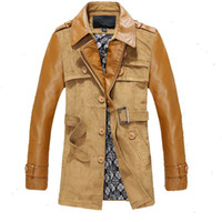 Wholesale Septwolves Jacket - Wholesale- Hot Septwolves brand 2015 new men's genuine leather trench coat,men's winter sheep leather jacket,men's winter outerwear,MPY11