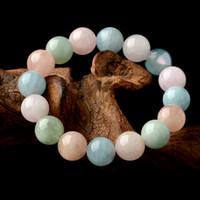 Wholesale Beryl Jewelry - Beryl Sea Sapphire Gold Stone Bracelet Green Pink Blue Crystal Jewelry