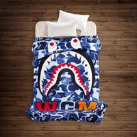 Wholesale single throw - New Japanese tide brand 7-color shark summer blanket flannel blanket bed sheet was nap single double blanket