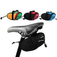Wholesale red cycle saddles resale online - Free DHL New Arrival Roswheel Outdoor Cycling Mountain Bike Bicycle Saddle Bag Back Seat Tail Pouch Package Black Green Blue Red