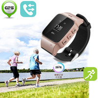 Wholesale Gsm Waterproof - D99 Elderly GPS Tracker watch Android Smart Google Map SOS Wristwatch Personal GSM GPS LBS Wifi Safety Anti-Lost Locator Watch LBS wifi cal