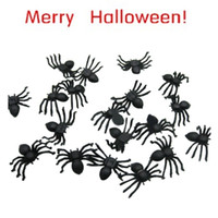 Wholesale Wholesale Toy Seller - Wholesale-Best Seller Free Shipping 20 PC Halloween festival funny Realistic Plastic Black Spider Joking Toys for kids or decoration Aug3