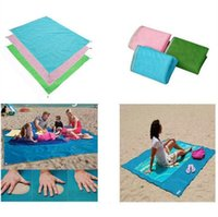 Wholesale Waterproof Outdoor Mattress - Sand Free Mattress Summer Beach Mat 200 x 150cm Waterproof Outdoor Camping Picnic Pad Picnic Blankets OOA2024
