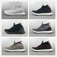 Wholesale Womens Size 12 Flats - Ultra Boost ATR Mid Trace Khaki Triple Black Mens Womens Running Shoes Size EU39-46.5 US6.5-12 Top Quality Real Boost Wholesale Drop Ship