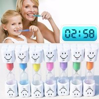 Wholesale Kids Wholesale Toothbrushes - Children Kids Toothbrush Timer Smiling Face 3-Minute Smile Sandglass Tooth Brushing Hourglass Sand Clock Home Decoration ZA3166