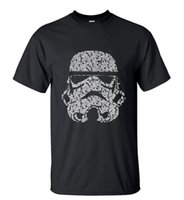 Wholesale Unique Animal Masks - Men 2016 Summer Fashion star wars Yoda Darth Vader Unique Masculine Streetwear T-Shirt Man Casual T Shirts masks Words Hip Hop