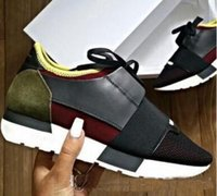 Wholesale European American Shoes - European American Paris Designer Sneakers Low Top Genuine Leather Casual Shoes for Men and Women Breathable Lace-up Mens Shoes Flats 35-46