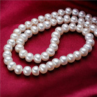 Wholesale Vintage Style Necklaces - Vintage Style Simulated Pearl Beautiful Bride Charm Necklace Pendants Fashion Jewelry Beaded Necklaces Cheap Accessories Real photo