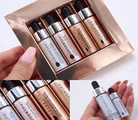 Wholesale Glowing Face Cream - DropshippingCOVER FX Custom Enhancer Set Ensemble Gouttes Accent-sur-mesure face highlighter powder 4pcs  set Glow 4.5ml liquid Highlighters