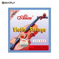 Wholesale Alice Strings - Wholesale- Free Shipping Alice A703 Professional Violin Strings 4 pieces E A D G for 4 4