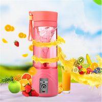 Wholesale Mini Blender Shake Take - 3 Colors Smoothie Maker Blender Shake And Take Juice Slow Juicer Mini Portable USB Rechargeable Electric Fruit Juicer Machine