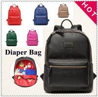 Wholesale Plain Diapers - 7 Colors Mommy Backpack Brand Nappies Bags Fashion Mother Backpack Diaper Maternity Handbags Travel Desinger Nursing Backapck CCA7488 3pcs