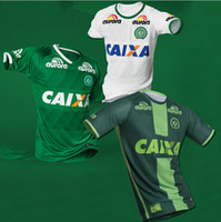 Wholesale Fc Club Soccer Jerseys - Soccer Jersey Chapecoense home Camiseta football 2016 2017 club fc Chapecoense SC Soccer Jersey Gil BRUNO Holla Green white Thailand Quality