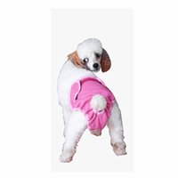 Wholesale Wedding Underwear Bow - Female Solid Pants Pet Dog Puppy physiological Sanitary Cute Short Pants Diaper Underwear Hygienic Pet Dog Pants