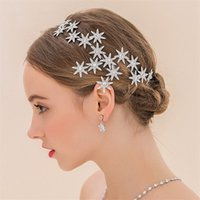 Vintage Wedding Bridal Star Crown Crystal Rhinestone Tiara Headband Accessoires pour cheveux Bijoux Silver Headpiece Headdress Princess Hair Band