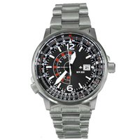 Wholesale Eco Drive Watches - NEW SPECTACULAR GMT DUALTIME ECODRIVE MEN's Promaster Eco-Drive Nighthawk Euro Pilots WATCH 42mm BJ7010-59E BJ7019-62E Wristwatches
