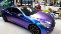 pegatinas de coche burbuja azul al por mayor-Car Styling Wrap Purple Charm Blue Car Vinyl film Body Sticker Car Wrap con aire libre Burbuja para Vehiche Motocicleta 1.52 * 20M / Roll KF-F1073
