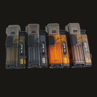 Wholesale Lighter Butane Case - Wholesale 1300'C Butane triple Torch Lighter Refillable No Gas Gadget Case