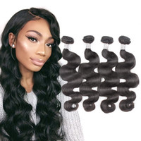 Wholesale Best Hair Weaves - Natural Unproccessed Peruvian Human Hair 4pcs Virgin Hair Uglam Hair Body wave Free Shipping Best Selling