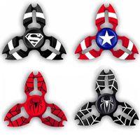 Wholesale Superman Sport Dhl - Zinc Alloy The Avengers Super Hero Captain America Metal Fidget Hand Spinner Spiderman Superman Hand Spinner Free DHL BEY067