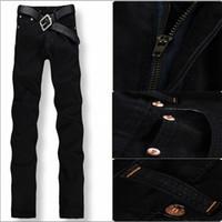 Wholesale Hot Cotton Brand Capris - Wholesale-Big Size 29-42,2016 New Arrival Hot Sale Famous Brand Straight Denim Cotton Men Jeans,Retail & Wholesale Fashion Jeans Men,33044