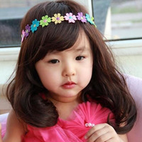 Wholesale Sunflower Headbands - Children head hoop Colorful sunflower hair band Rainbow flower Daisy hair band