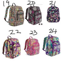 VB Cotton Flower Bag Campus Laptop Mochila School Bag Business Case Travel College 100% real