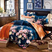 Wholesale Princess Floral Bedding - Wholesale- 4 pcs floral boho bedding-sets princess pink bedclothes cute bowknot bed linen duvet cover sheet pillowcases twin queen king