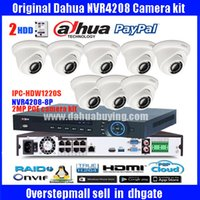 Wholesale Dome Poe - Original ENGLISH firmware dahua 8PoE NVR Network Video Recorder DH-NVR4208-8P with 8pcs DH-IPC-HDW1220S 2MP Full HD POE english camera