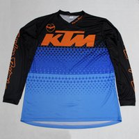 Wholesale Motocross Long Sleeve T Shirts - 2017 KTM Cycling Long sleeve Jersey Rope Ciclismo Maillot Men's Motocross MTB Cycling Clothing Bicycle T-Shirt Riding Bike Clothes Sportwear