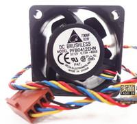 inversor pwm venda por atacado-Atacado - Frete Grátis Delta PFB0412EHN 4028 40mm 4cm 12V 0.72A 4 pinos pwm servidor industrial inversor ventiladores de refrigeração