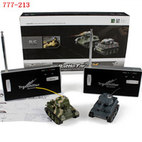 Wholesale Toy Tank Battle - Wholesale- Happycow 777-213 Battle Mini Rc Tank Two Fighting Remote Control Army Tanks Kids Electric Toys Fun Gift
