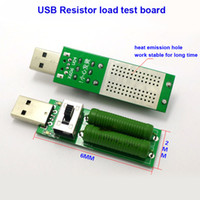Wholesale Port Tests - Wholesale- USB Port Load Resistor Test Board Thicken fiber heat emission Discharge Current Voltage Meter Tester 2A 1A With Switch Blue LED