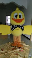 Wholesale Duck Costume Outfit Mascot - Rhubarb duck Big troopial Rhubarb chicken mascot costumes for adults christmas Halloween Outfit Fancy Dress Suit Free Shipping