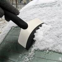pás de neve de aço venda por atacado-Pá de neve de aço inoxidável Inverno deicing carro erradicar pá de neve Raspador de gelo sólido