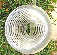 Wholesale Wind Spinners Stainless Steel - Hollow Circle Stainless Steel Wind Spinner for Home Garden Indoor Outdoor Epoxy Coating with Sparkles Powder Laser Cut Never Rust 12inch