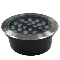 12v led açık peyzaj ışıkları toptan satış-Led yeraltı ışık açık peyzaj aydınlatma gömme zemin yeraltı yard yolu yeraltı su geçirmez ışıkları 3 W / 5 W / 7 W / 9 W / 12 W / 15 W / 18 W / 24 W